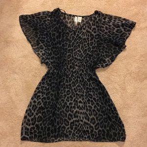 Leopard Print Blouse/Dress